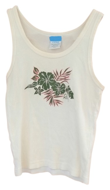 Roxy Top White with Floral