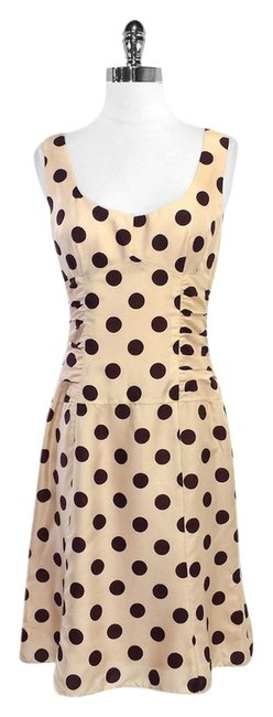 Preload https://item4.tradesy.com/images/nanette-lepore-blush-and-maroon-polka-dot-silk-above-knee-short-casual-dress-size-4-s-5564413-0-0.jpg?width=400&height=650