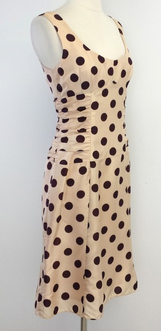 Nanette Lepore short dress Blush Maroon Polka Dot Silk on Tradesy