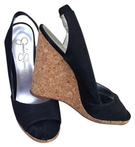 Jessica Simpson Slingback Black Wedges