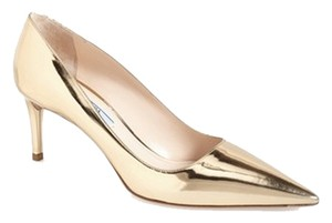 Prada Pointy Toe Designer Gold Silver Jimmy Choo metallic Pumps