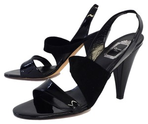 Dior Black Leather Heels Sandals