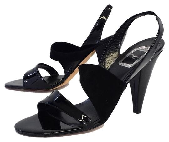 Preload https://img-static.tradesy.com/item/5564512/dior-black-patent-leather-and-suede-heels-sandals-size-us-11-0-0-540-540.jpg