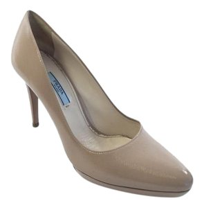 Prada Saffiano Leather Jimmy Choo Nude Pumps
