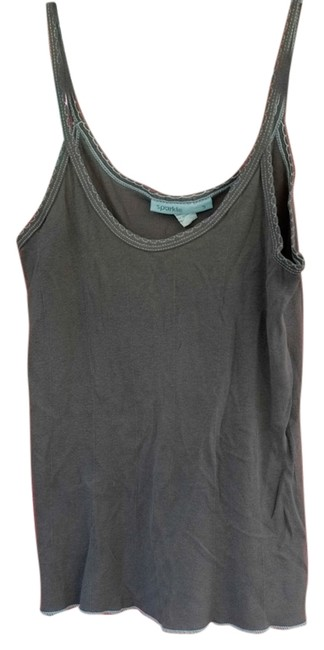 Sparkle & Fade Top Gray and green