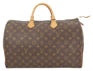 Louis Vuitton Speedy 40 Monogram Boston Hand Browns Travel Bag