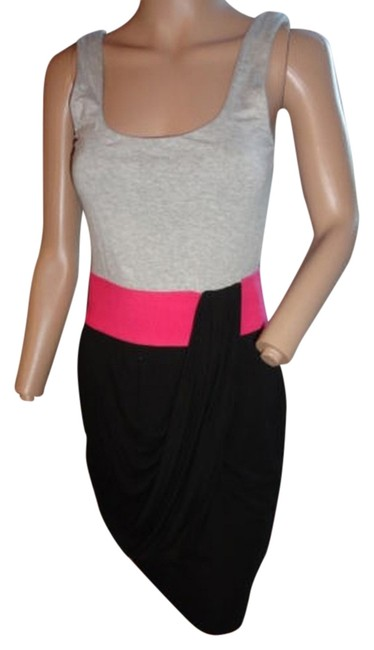 B44 short dress COLORBLOCK PINK/BLACK/GRAY on Tradesy