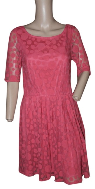 Preload https://img-static.tradesy.com/item/5565367/lc-lauren-conrad-pink-fit-and-flare-polka-dot-lace-short-workoffice-dress-size-4-s-0-0-650-650.jpg