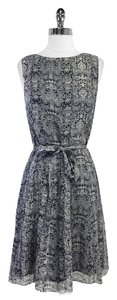 Brooks Brothers short dress Grey Black Print Silk Sleeveless on Tradesy