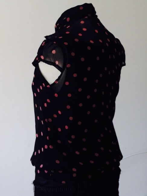 DKNY Top BLACK WITH PINK POLKA DOTS