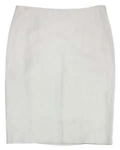 Valentino Cream Linen Skirt