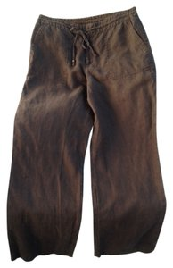 Liz Claiborne Linen Straight Pants brown