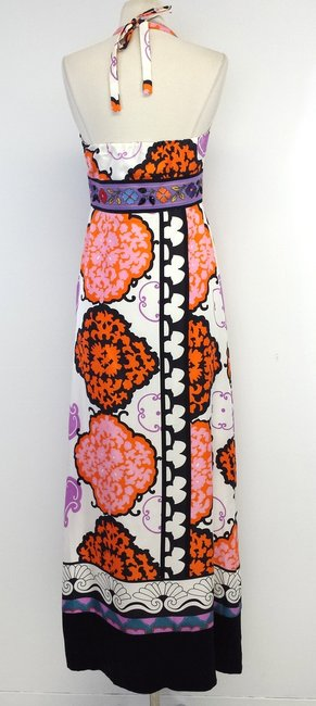 Maxi Dress by ITW Multi Color Floral Print Silk Maxi