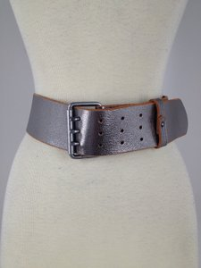 1937 Accessories Silver Leather Belt size M (Madewell)
