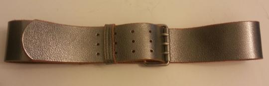 Other 1937 Accessories Silver Leather Belt size M (Madewell)