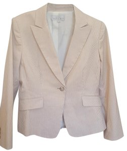 Tahari Pinstripe Tan & Brown Blazer