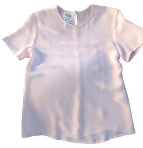 Talbots Silk T Shirt light pink
