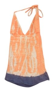 Om Girl Orange Halter Top