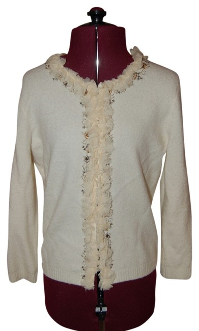 Tahari Embellished Embroidered Cardigan