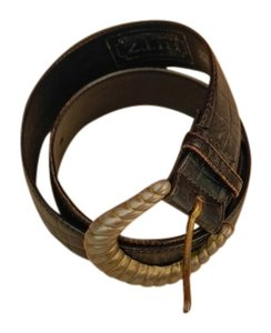Ritz Conection RITZ Black leather belt made in Uruguay 1-1/2