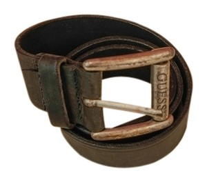 Guess Black leather belt 1-1/2