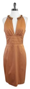Kay Unger short dress Copper Beaded Sleeveless on Tradesy