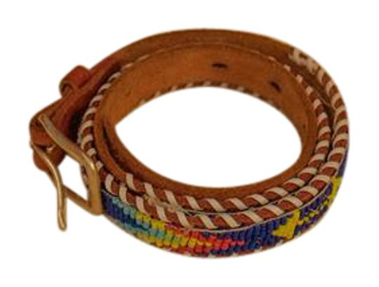 Preload https://item1.tradesy.com/images/multicolor-decoration-on-brown-leather-yellow-metal-buckle-belt-5567305-0-2.jpg?width=440&height=440