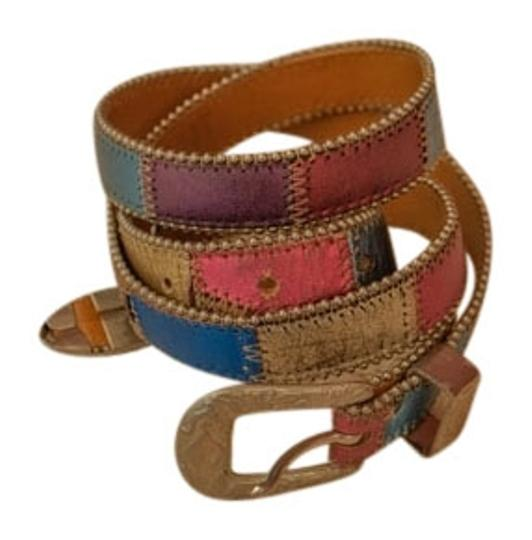 Preload https://item2.tradesy.com/images/eloise-multicolor-brown-leather-with-white-metal-buckle-belt-5567341-0-0.jpg?width=440&height=440