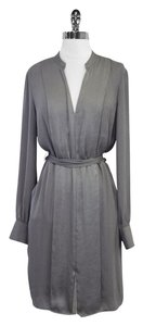 BCBGMAXAZRIA short dress Charlene Grey Long Sleeve on Tradesy
