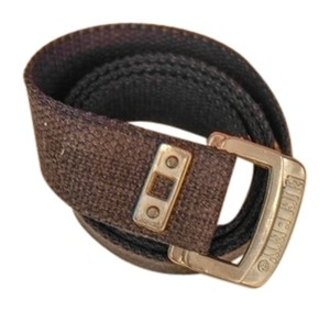 Bugle Boy Black Web Cloth Belt