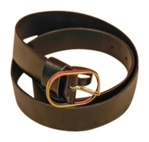 Halogen 36 by 1-3/16 wide Black Leather Belt
