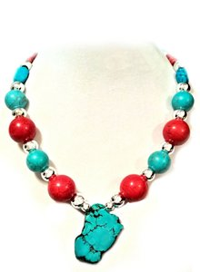 After Xmas Sale Silver Turquoise 20mm Ball 19