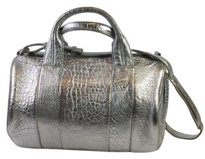 Alexander Wang Studded Satchel in Silver