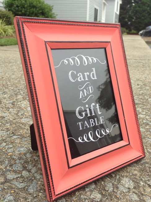 Item - Coral Cards and Gifts Table Sign