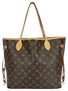 Louis Vuitton Neverfull Mm Monogram Tote in Browns