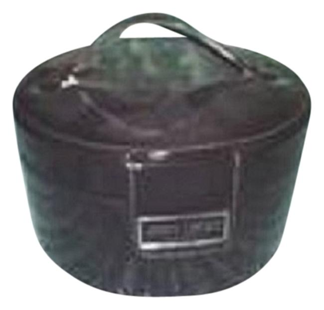 Item - Black Patent Leather with A Mirror Inside Cosmetic Bag