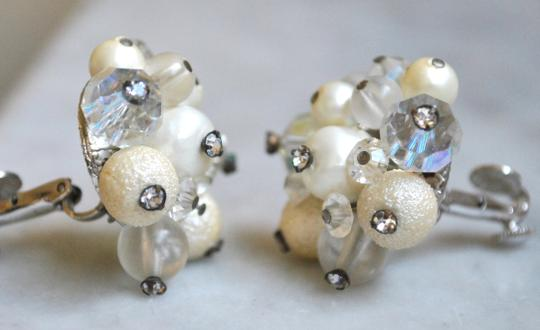 Other Vendome Ivory Bead, Crystal and Rhinestone Earrings