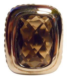 Other sterling silver faceted smokey quartz ring