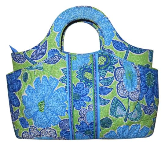Vera Bradley Tote in blue & green print