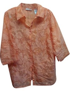 JH Collectibles Woman Button Down Shirt Apricot