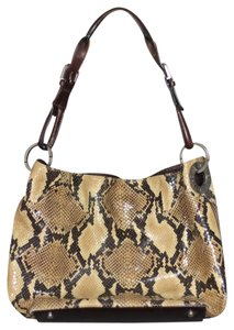 Adrienne Vittadini Leather Satchel in Snakeskin