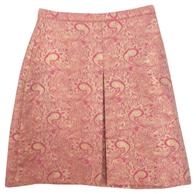 Tocca Skirt Pink with metallic gold thread
