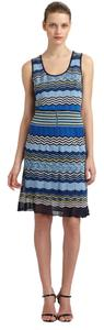 Laundry by Shelli Segal Chevron Zigzag Sleeveless Dress