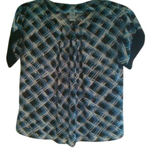 Worthington Top blue/black/wht