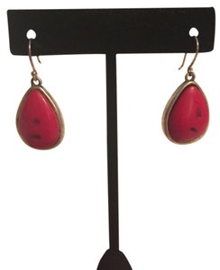 Lucky Brand Lucky Brand Silver and Red earrings