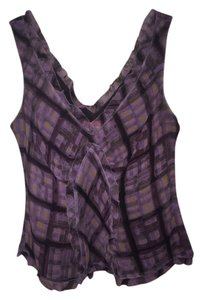 AK Anne Klein Top Purple Plaid