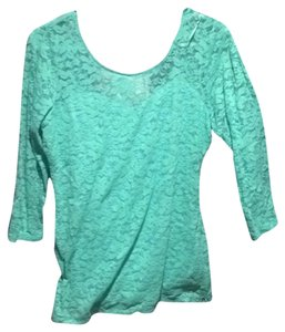 Guess Lace Turquise Summer Mint Top Mint green