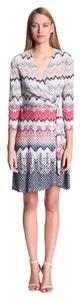 BCBGMAXAZRIA short dress Multi - Tan, Red, Blue, Black Bcbg Wrap Adele Snakeskin on Tradesy