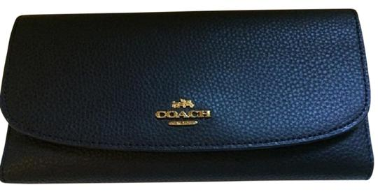 Coach NWT Coach Black Leather Checkbook Wallet