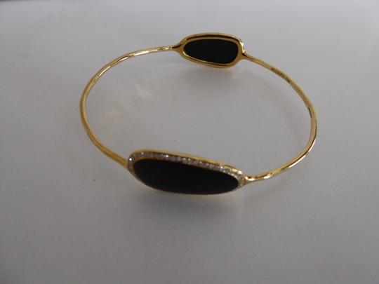 Ippolita NEW! $3,900 IPPOLITA 18K Gold, Black Onyx, Pave Diamond Bangle Bracelet